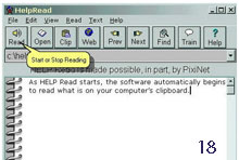 18.HELPRead screen reader - Photo courtesy of AbleData